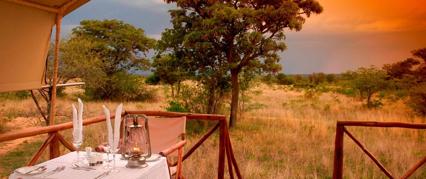 4 Star Kwafubesi Tented Safari Camp for 2 nights from R3 315* pps - self drive