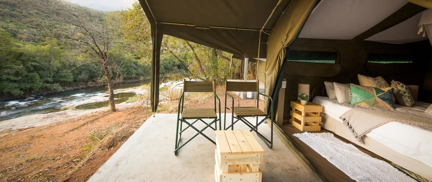 Lions Rock Rapids Tented Camp, for two nights from R1 760 pps - self drive
