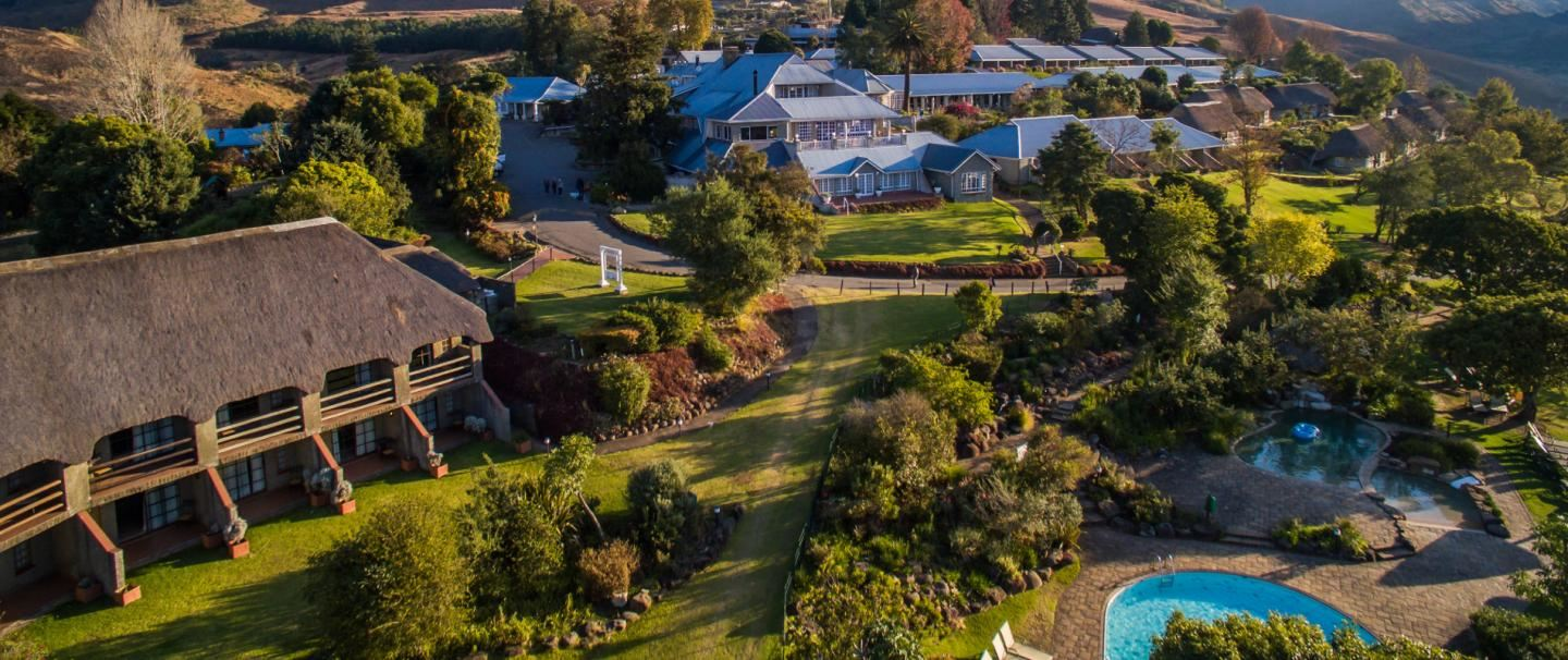Four star Cathedral Peak Hotel for two nights from R2 710 pps - self drive